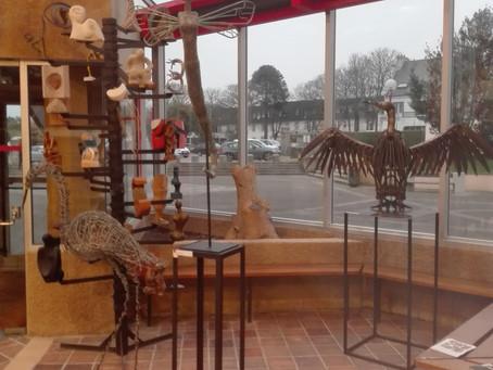 Vernissage du 29eme salon de sculpture à Landivisiau