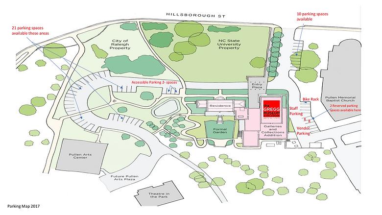 Gregg Museum Outdoor Parking Map 11 2017