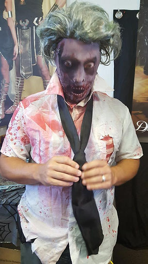 Zombie mask, make-up for costumes at Hocus Pocus Halloween, San Antonio Texas
