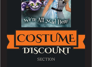 Costumes for $10.00! Shop with us for our Wacky Wednesday SALE!
