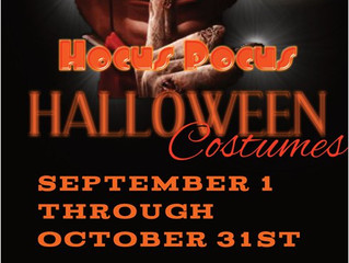 Grand Opening September 1, 2017! New location, BIGGER selection of costumes for the entire family.