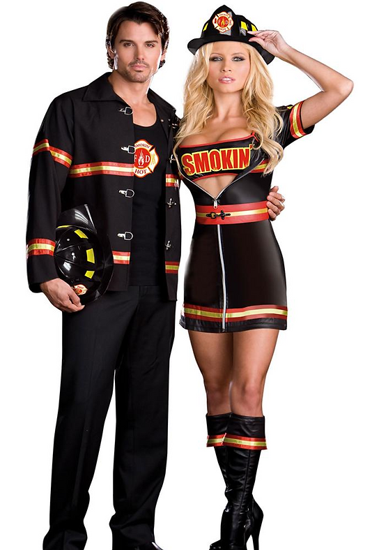 smoking hot fire chief and fire captain costumes for couples - Halloween Stores In San Antonio Texas