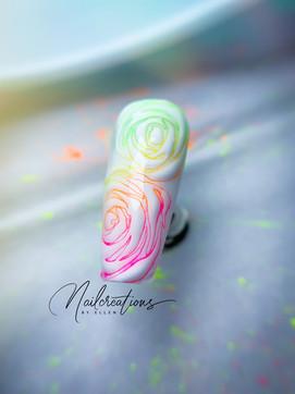 neon flower