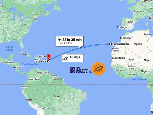 5.000 kilometer, oftewel 3.000 zeemijl, roeien!