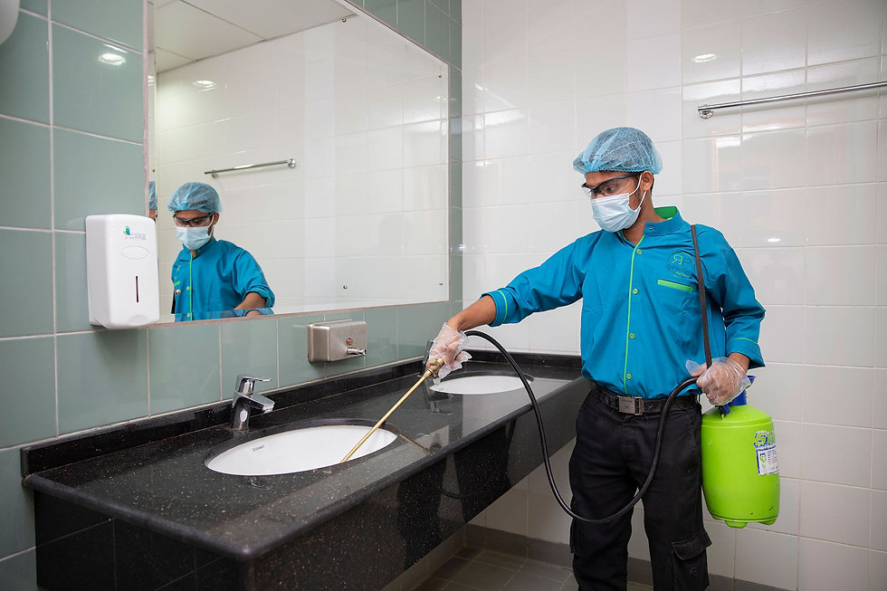 Cleaning Toilets - Facilities Management