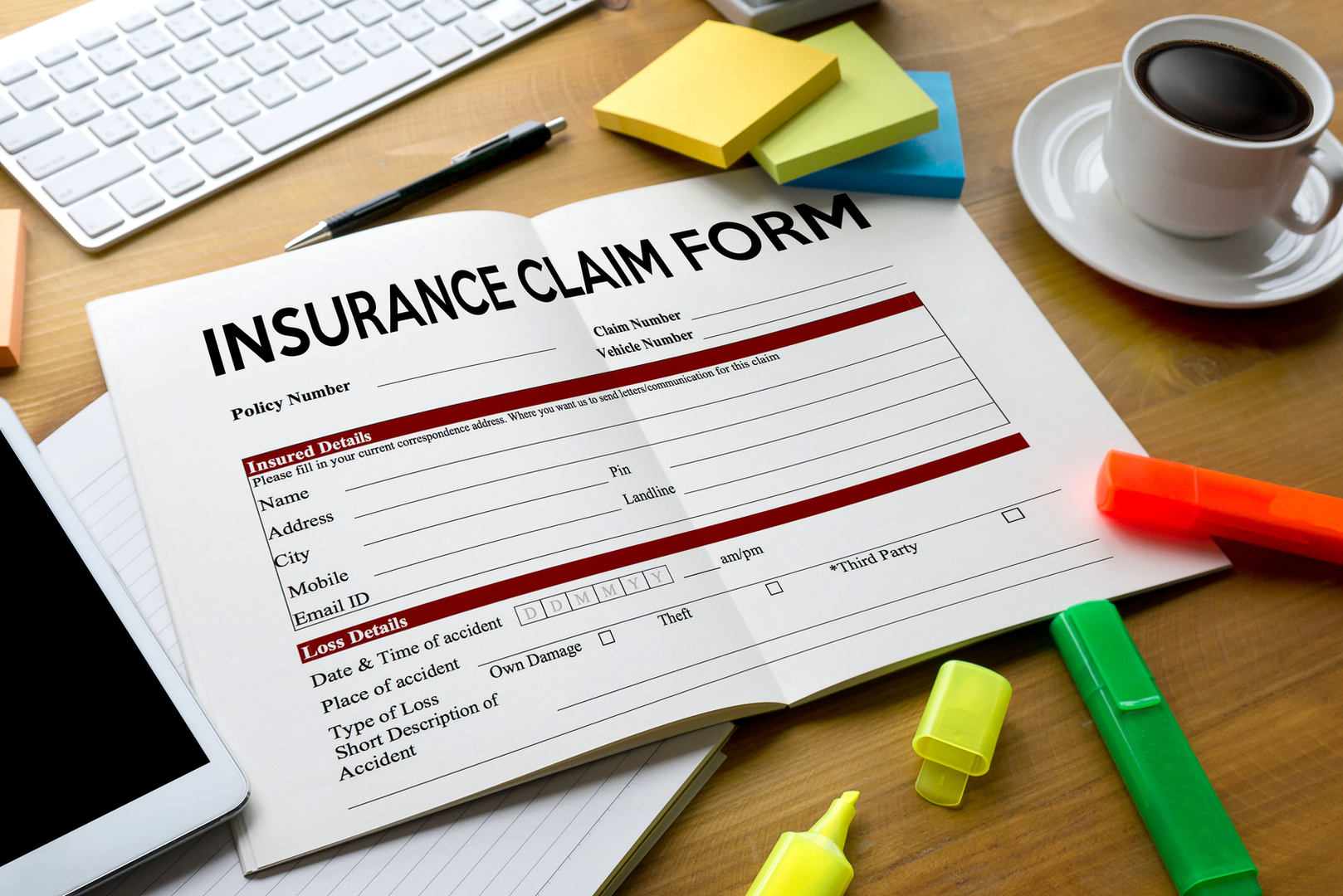 Claims Health Insurance Form ,  Claims D