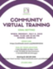 CFLS Community Goal Setting Flyer - July