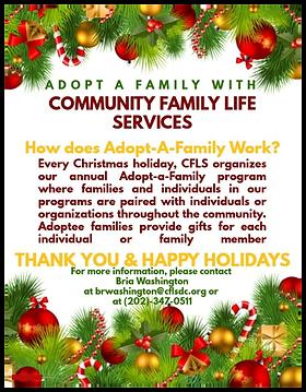 Adopt A Family For Christmas.Holiday Programs Cflsnew