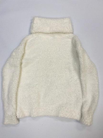 Women's Fuzzy Sweater (White)