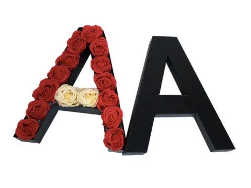 Boite de roses personnalisée _ Edition Alphabet