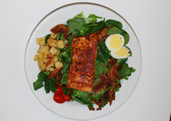Cajun Grilled Salmon Salad