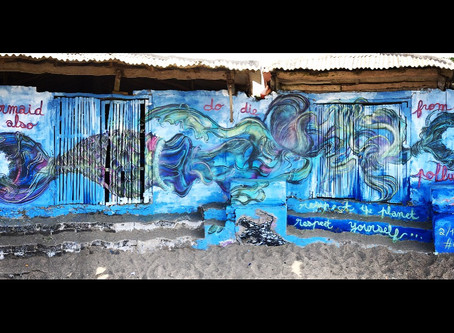 Street Art in Canggu - Nelayan Beach