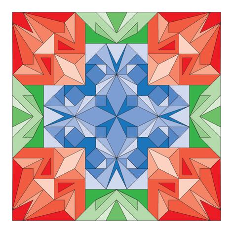To the centre-With Original colour