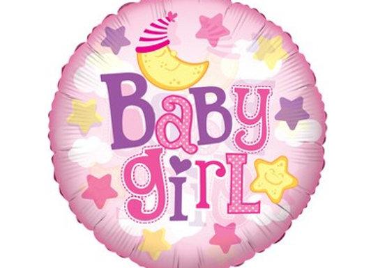 Baby Girl Balloon 18' Mylar