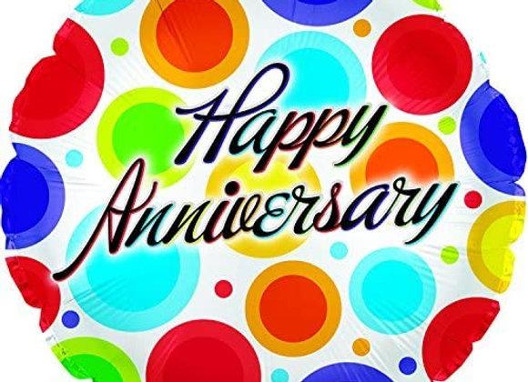 Happy Anniversary 18' Mylar