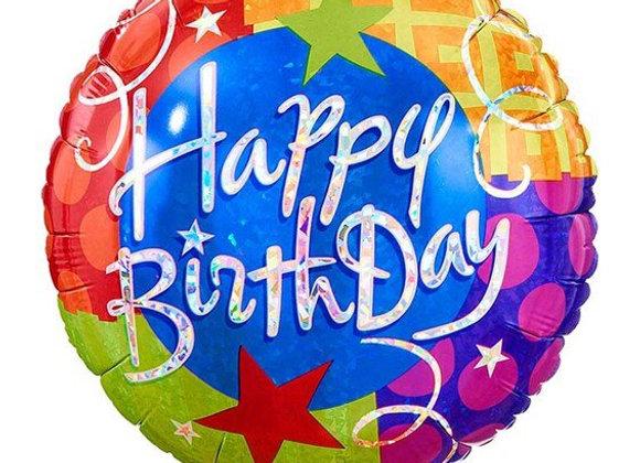 Happy Birthday 18' Mylar