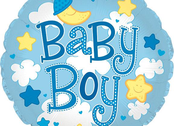 Baby Boy Balloon 18' Mylar