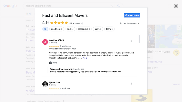 Fast and Efficient Movers near me