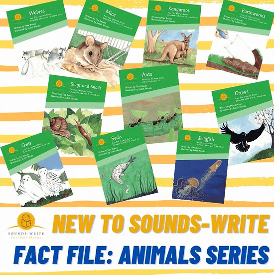 Sounds Write Decodable Informational Texts: Fact File: Animal Series