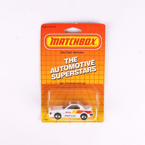 Toyota MR2 Pace Car #9 - Vintage 1987 Matchbox - Die Cast Vehicle