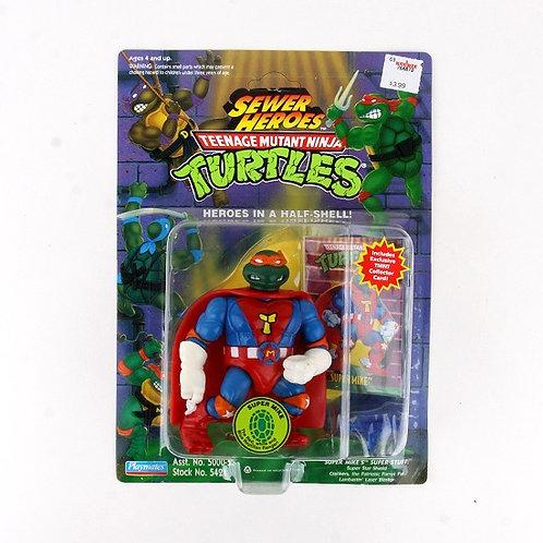 Super Mike - 1993 Teenage Mutant Ninja Turtles Sewer Heroes Figure - Playmates