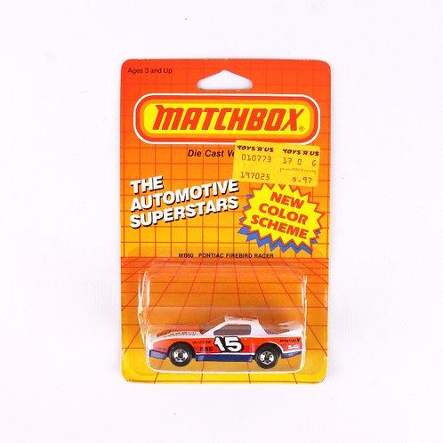 Pontiac Firebird Racer #60 - Vintage 1986 Matchbox / Lesney Die Cast