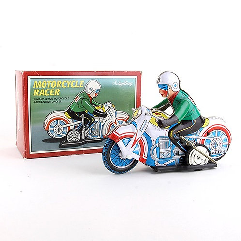 Motorcycle Racer - Classic Windup Tin Toy -Schylling