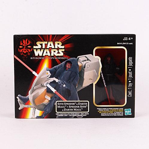 Sith Speeder & Darth Maul - 1998 Star Wars The Phantom Menace - Action Figure