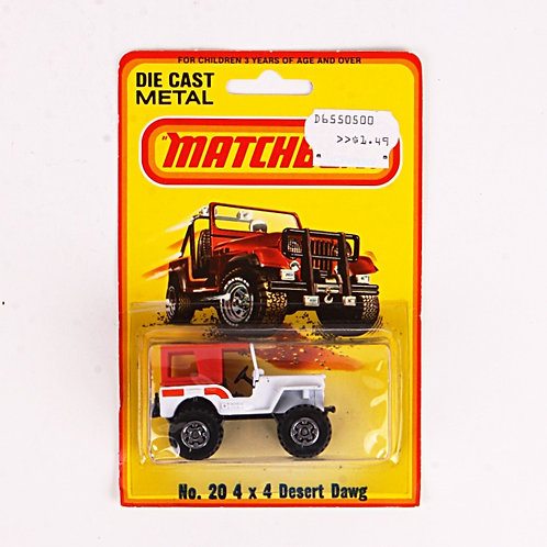 4x4 Desert Dawg #20 - Vintage 1982 Matchbox / Lesney Die Cast Vehicle