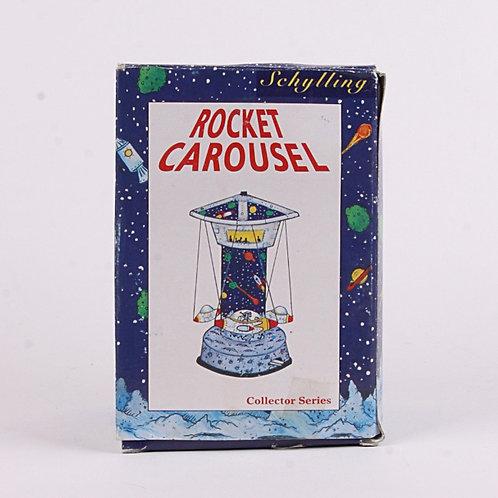 Rocket Carousel - Modern 2000 Windup Tin Toy - Schylling