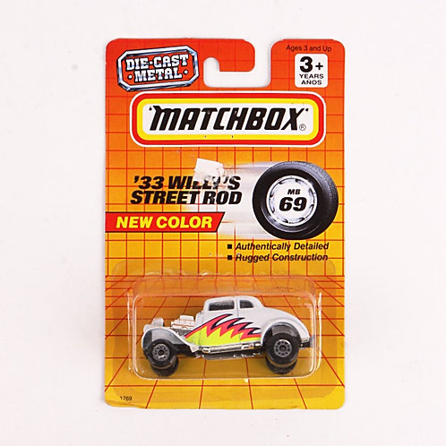 33 Willy's Street Rod #69 - Classic 1993 Matchbox - Die Cast Vehicle