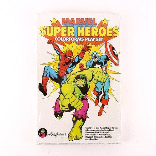 Marvel Super Heroes - Vintage 1983 Play Set - Colorforms