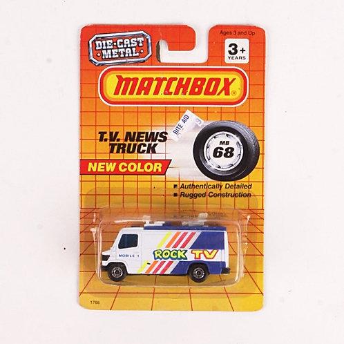 TV News Truck #68 - Classic 1993 Matchbox - Die Cast Vehicle