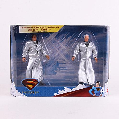 JOR-EL & KAL-EL - Modern 2006 Superman Returns - Action Figures - Mattel / DC