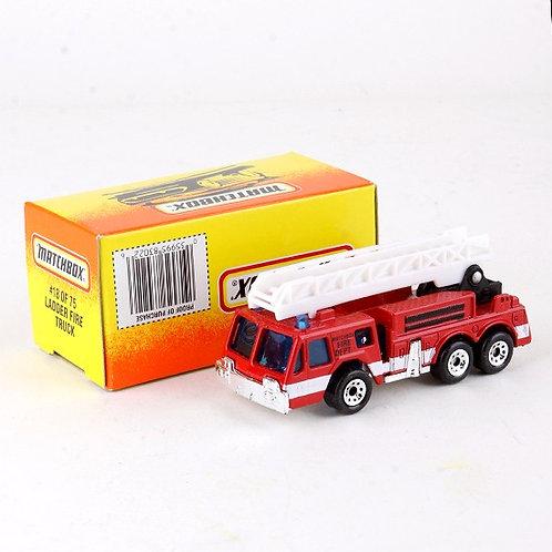 Ladder Fire Truck #18 - Classic 1996 Die Cast Vehicle - Matchbox