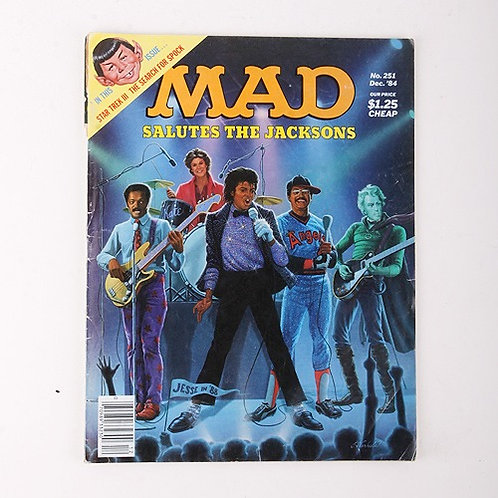 Mad Magazine - Vintage Dec 1984 # 251 - Salutes the Jacksons