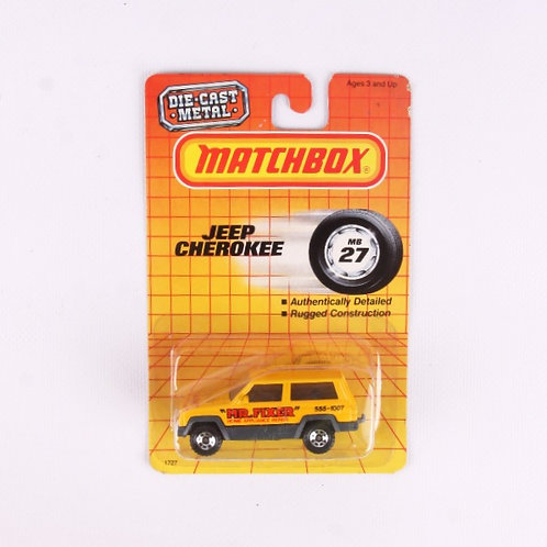 "Jeep Cherokee "" Mr. Fixer "" #27 - Vintage 1987 Matchbox - Die Cast Vehicle"