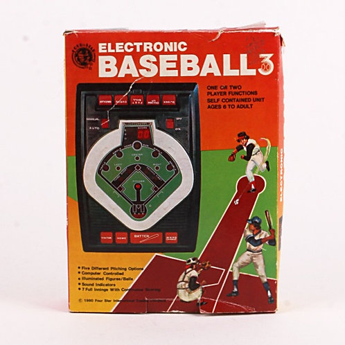 Baseball 3 - Vintage 1980 Handheld Electronic Sports Game - Four Star