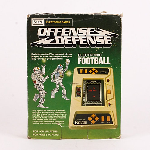 Football Offense Defense - Vintage 1981 Electronic Sports Game - Sears