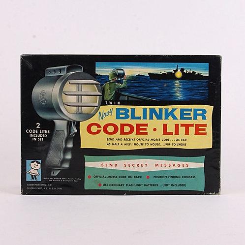 Twin Navy Blinker Morse Code Lite - Vintage 1960's - Hasbro