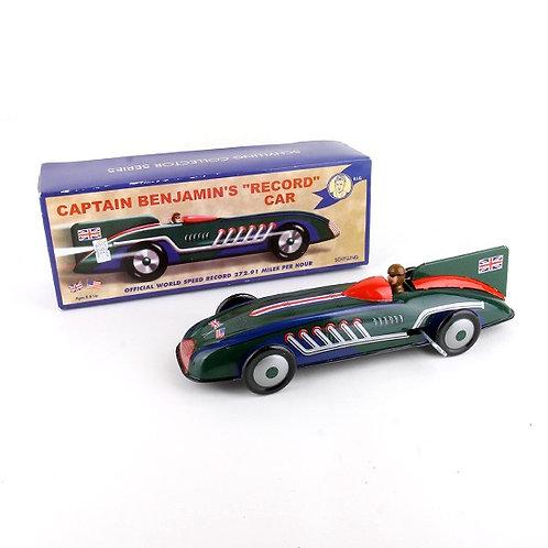 """Captain Benjamin's """"Record Car"""" - Classic Windup Tin Toy - Schylling"""