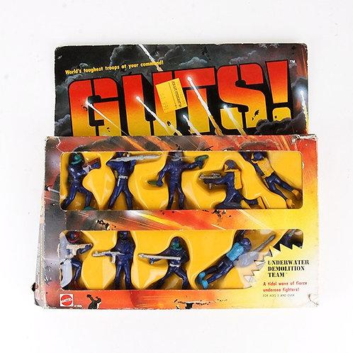 Underwater Demolition Team - Vintage 1986 GUTS Figures - Mattel