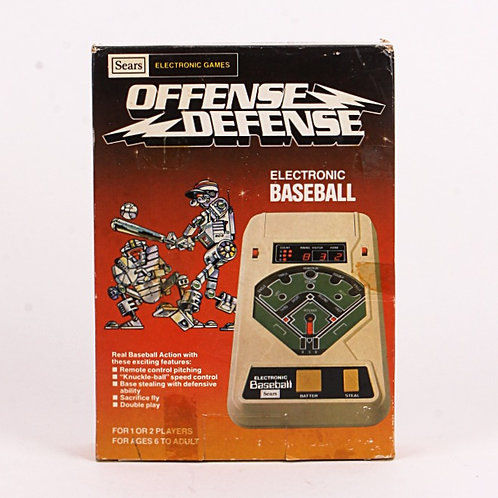 Baseball Offense Defense - Vintage 1981 Electronic Sports Game - Sears