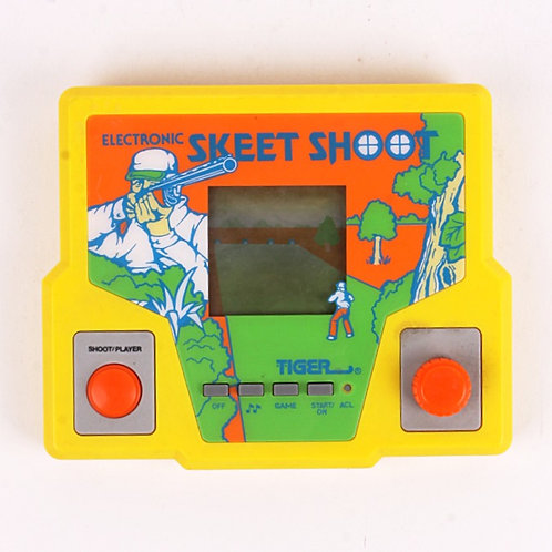 Skeet Shoot - Vintage 1987 Electronic Handheld Sport Game - Tiger