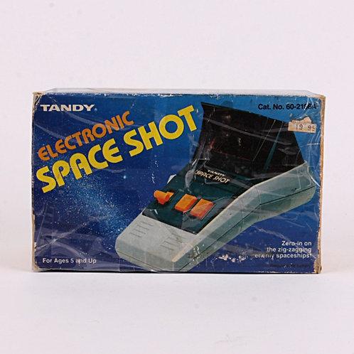Space Shot - Vintage 1982 Electronic Handheld Arcade Game - Tandy