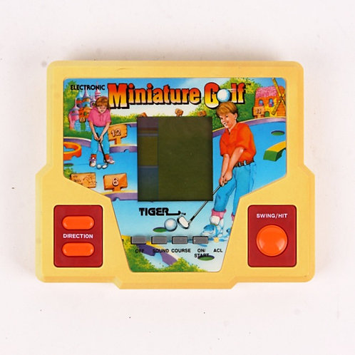 Miniature Golf - Vintage 1988 Electronic Handheld Sports Game - Tiger
