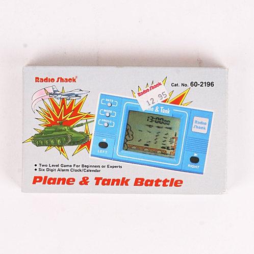 Plane & Tank Vintage 1986 Electronic Arcade Clock & Calendar Game - Radio Shack