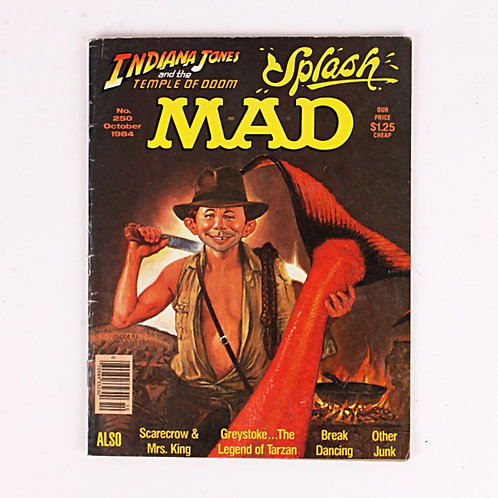 Mad Magazine - Vintage Oct 1984 # 250 - Indiana Jones - Splash
