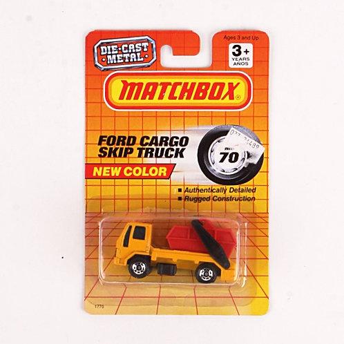 Ford Cargo Skip Truck #70 - Classic 1992 Matchbox - Die Cast Vehicle