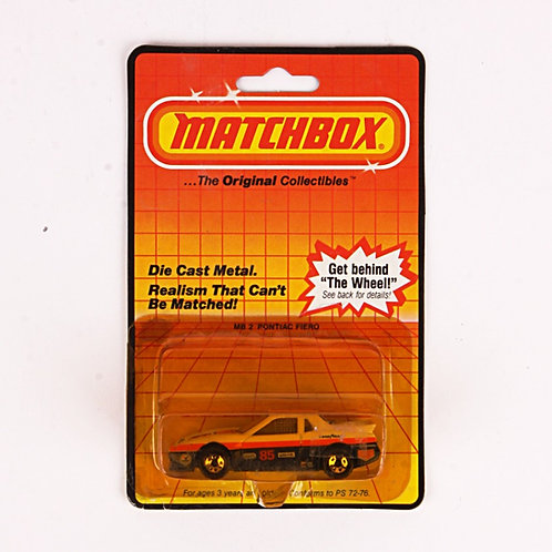 Pontiac Fiero #2 - Vintage 1983 Matchbox / Lesney Die Cast Vehicle